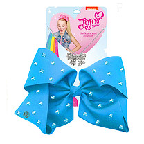JoJo Siwa 20cm Signature Rhinestone Bow And Necklace Set - Blue