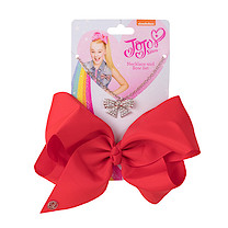 JoJo Siwa 20cm Signature Bow And Necklace Set -Red