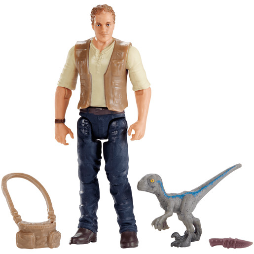"Jurassic World Figure - Owen & Baby ""Blue"""