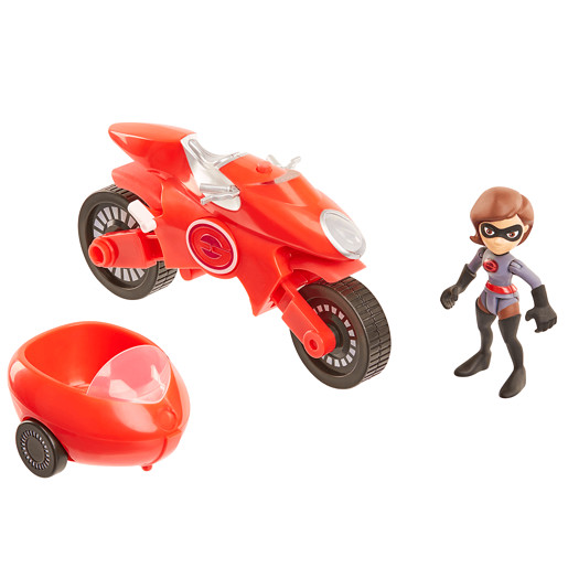 Disney Pixar Incredibles 2 Junior Supers Vehicle - Elasticycle & Elastigirl