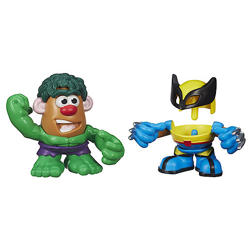 Mr. Potato Head Mashable Heroes 2 Pack  Hulk & Wolverine