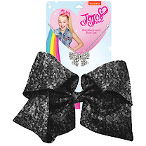 JoJo Siwa 20cm Signature Sequin Bow And Necklace Set - Black