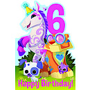 Animal Jam Age 6 Birthday Card