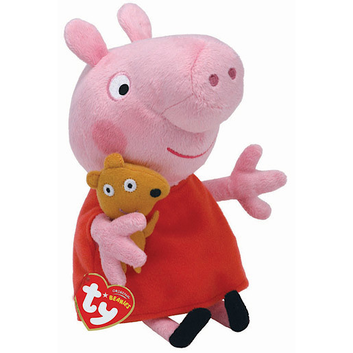 TY Peppa Pig & Friends Beanie Buddy Soft Toy - Peppa Pig