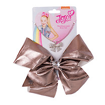 JoJo Siwa 20cm Metallic Faux Leather Bow And Necklace Set - Gunmetal