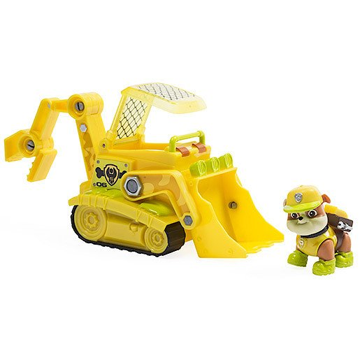 Paw Patrol Jungle Rescue Rubble's Jungle Bulldozer Vehicle with Figure