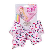 JoJo Siwa 20cm Signature Patterned Bow And Necklace Set -White