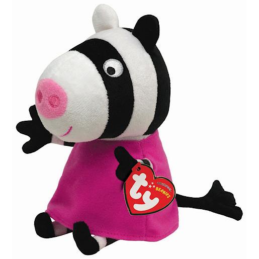 Ty Peppa Pig Friends Beanie Buddy Soft Toy Zoe Zebra
