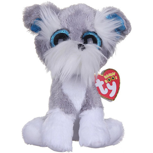 Image of Ty Beanie Boos - Whiskers the Schnauzer Soft Toy