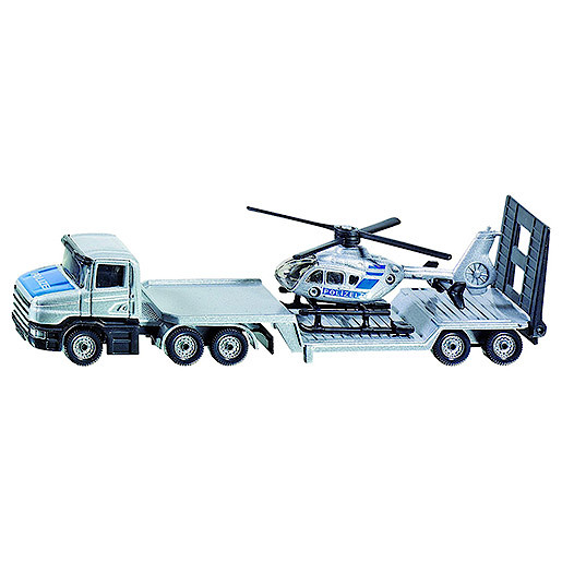 Siku Diecast Low Loader with Helicopter