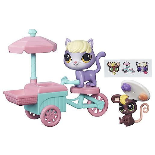 Littlest Pet Shop City Delilah & Mouse Treat Cart Figure Set