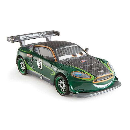 Image of Disney Pixar Cars Carbon Fibre Diecast Vehicle Nigel Gearsley