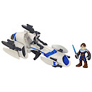 Playskool Heroes Star Wars Jedi Force - Barc Speeder Bike with Anakin Skywalker Figure