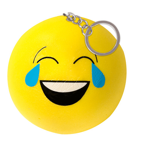 Squeez-ems Small Smiley Squishy Keyring