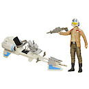 Star Wars 30cm Speeder Bike and Poe Dameron Figure