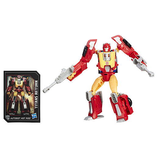 Transformers Generations Deluxe Firedrive and Autobot Hot Rod Figure