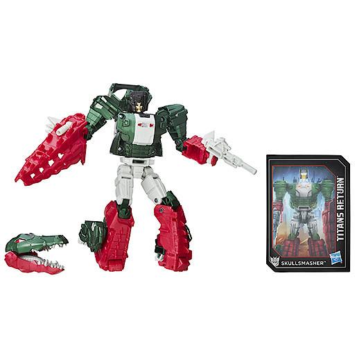 Transformers Generations Deluxe Titan Master Grax & Skullsmasher Figure