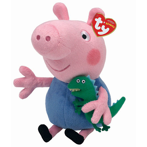 TY Peppa Pig & Friends Beanie Buddy Soft Toy - George Pig