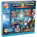 Block Tech 10 Block Figures - Space Heroes
