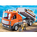 Playmobil 6861 City Action Construction Flatbed Workman's Truck with Tilting Rear Section