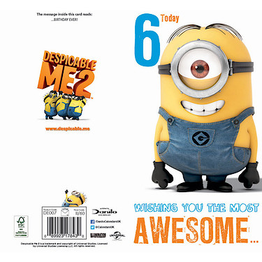 Despicable me 6th birthday card the entertainer the entertainer despicable me 6th birthday card enlarged view of picture bookmarktalkfo Gallery