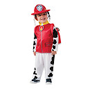 Paw Patrol Marshall Small Costume with Headpiece and Pup Pack (Age 3-4 years)