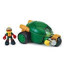 Teenage Mutant Ninja Turtles Half-Shell Heroes Stealth Bike and Racer Raph Figure