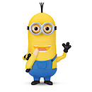 Minions Movie - Minion Kevin Banana Eating Action Figure