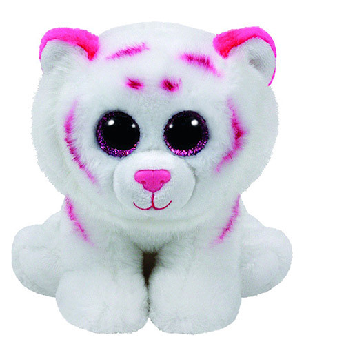 Ty Beanie Babies 15cm Soft Toy - Tabor the White Tiger
