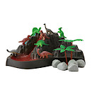 Dinosaur Volcano Playset - 14 Pieces