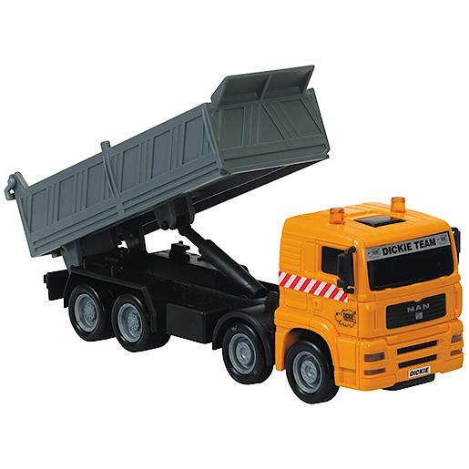 Image of City Team Vehicle Orange Dump Truck