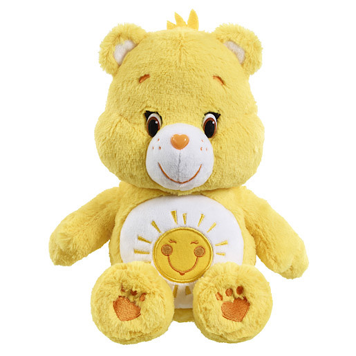 Care Bears Funshine Bear Soft Toy with DVD