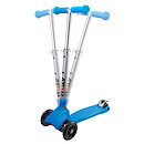 Atom Folding Cruiser Three Wheel Scooter - Blue