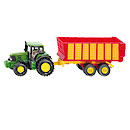 Die-Cast 1:87 John Deere With Silage Trailer