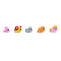 Zippeeez Quintuplets Pack - Whale, Butterfly, Buffalo, Dino & Pony