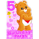 Care Bears Age 5 Birthday Card