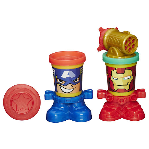Image of Play-Doh Marvel Can-Heads: Captain America and Iron Man