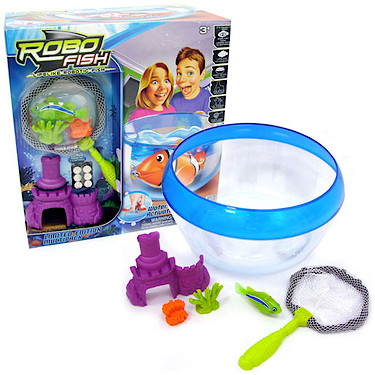 Robo fish limited edition bowl net and fish set the for Robo fish toy