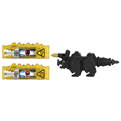 Power Rangers Dino Super Charge Power Pack Black Tricera Zord