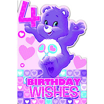 Care Bears Age 4 Birthday Card