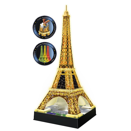 Ravensburger Night Edition Eiffel Tower with Lights from TheToyShop
