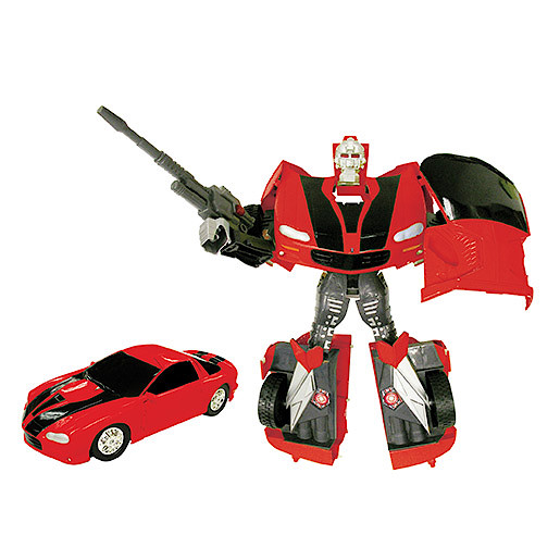 Car Bot V2 Figure - Red Ford Camaro