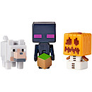 Minecraft Grass Series Mini Figures - Enderman with Snow Golem and Wolf
