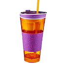 Snackeez Drink Cup - Orange and Purple