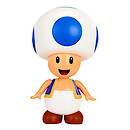 World of Nintendo 10cm Blue Toad Figure