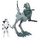 Star Wars 9cm Stormtrooper Sargeant Figure and Assault Walker Vehicle