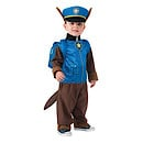 Paw Patrol Chase Small Costume with Headpiece and Pup Pack (3 - 4 Years)