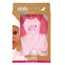 Dolls World Outfit - Love & Peace Baby Grow