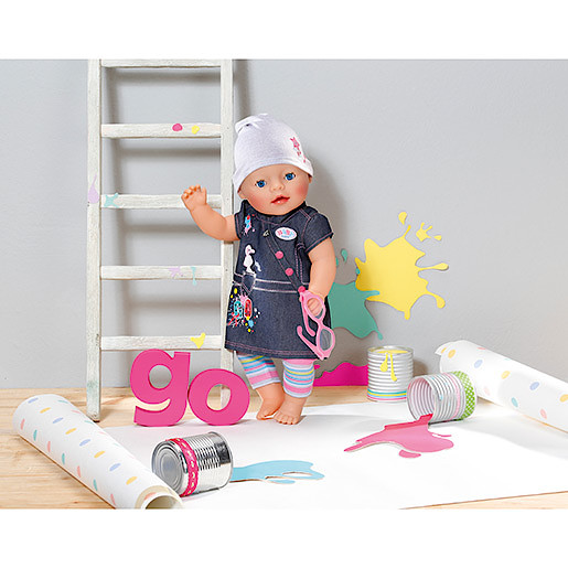 Image of Baby Born Deluxe Denim Outfit with Go! Design