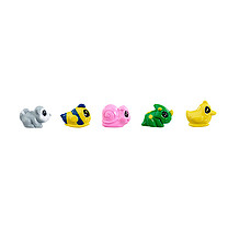 Zippeeez Quintuplets Pack - Raccoon, Fish, Snail, Triceratops & Duck